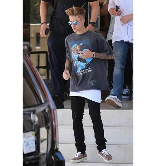 Justin Bieber Metallica Outfits
