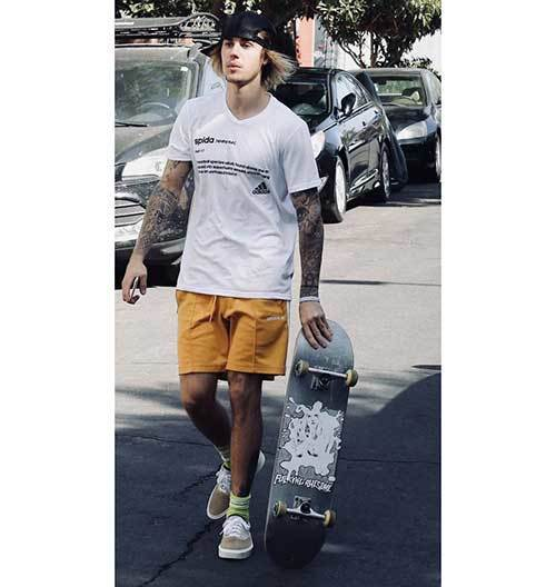 Justin Bieber Skater Outfits