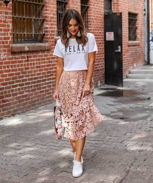 Midi Skirt Spring Outfit Ideas