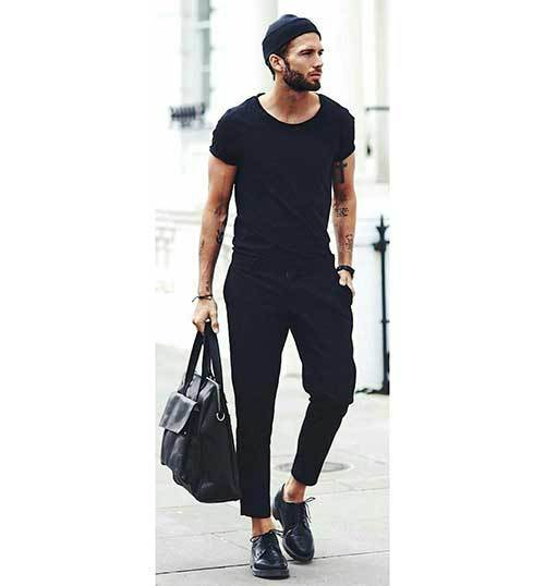 Minimalist All Black Outfits for Guys