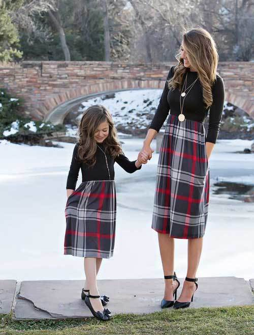 Mom and Daughter Coordinating Outfits