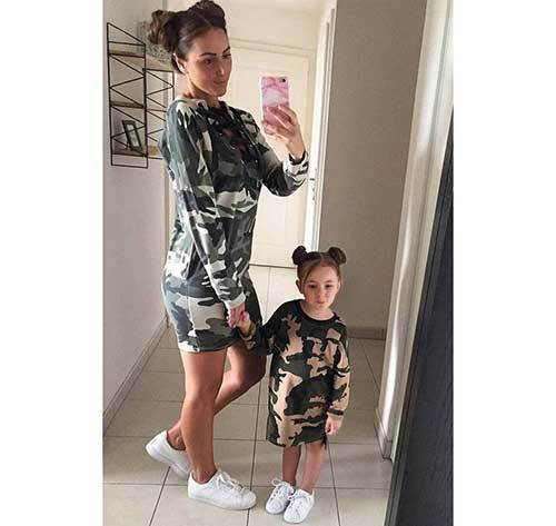 Mom and Daughter Matching Camo Outfits