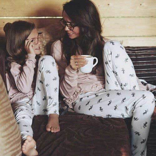 Mom and Daughter Matching Pajamas