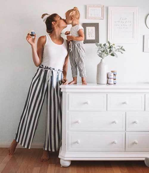 Mom and Daughter Matching Pants