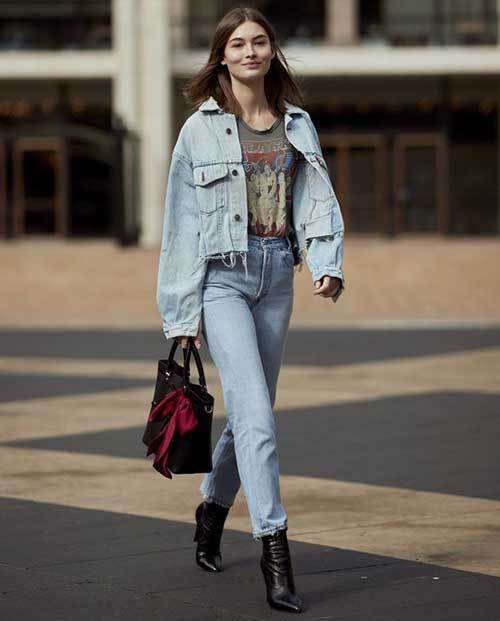 Denim Jacket Street Outfit Ideas