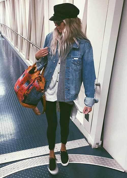 Denim Jacket Travel Outfit Ideas