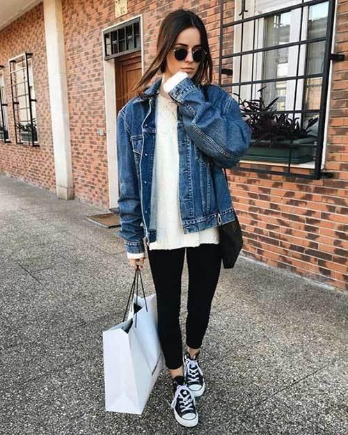 Denim Jacket Winter Outfit Ideas