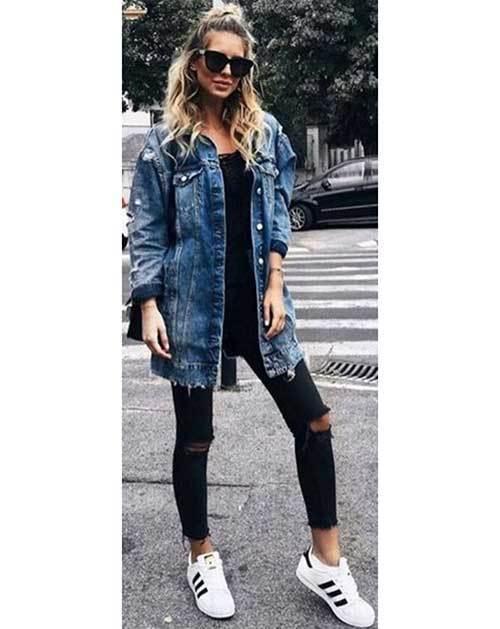 Long Denim Jacket Outfit Ideas