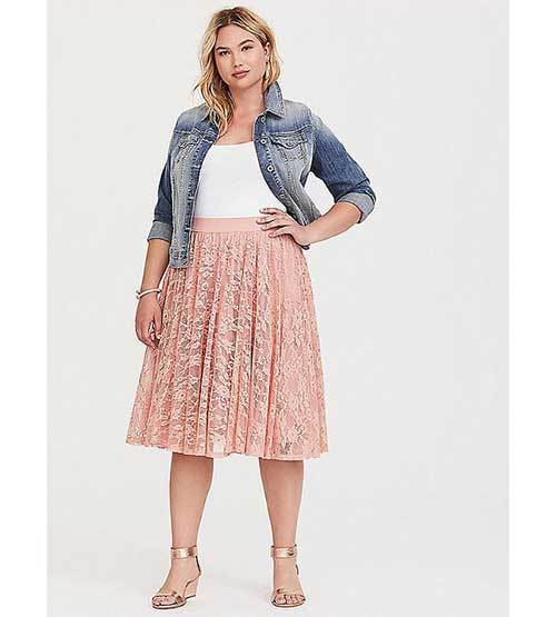 Pastel Midi Skirt Outfit Ideas