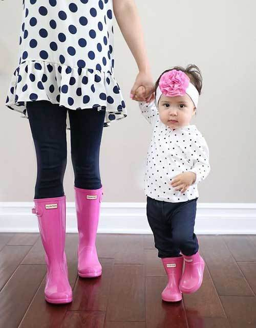 Pink Mom and Daughter Matching Outfits