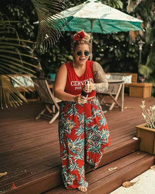 Plus Size Wide Leg Summer Pants