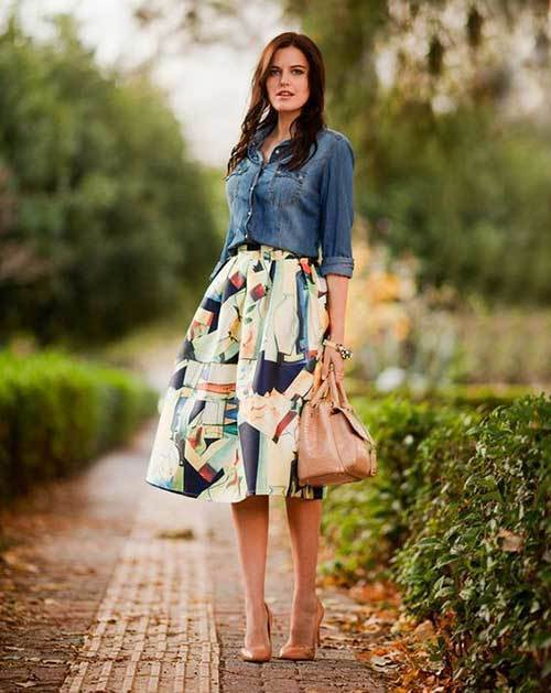 Pretty Midi Skirt Outfit Ideas