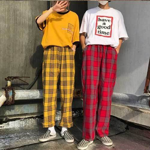 Red Yellow Plaid Outfits