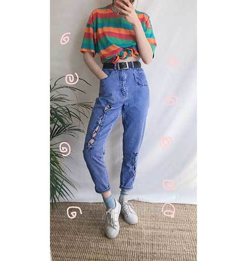 90S Inspired Striped Outfits