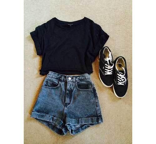 Summer Denim Shorts Outfits