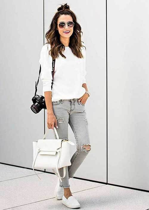 Simple Grey Denim Outfits