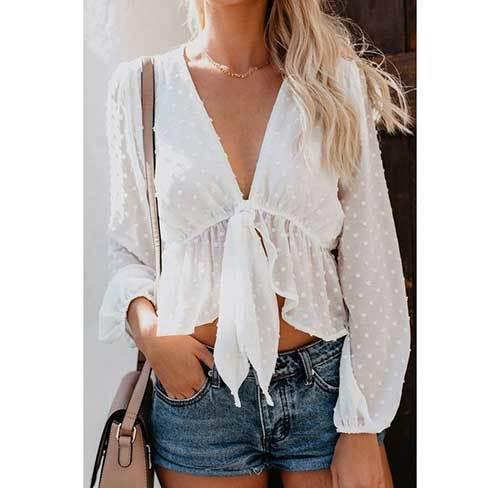 V Neck Summer Outfits