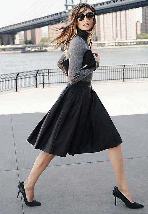 Stylish Midi Skirt Outfit Ideas