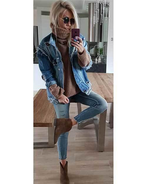 Stylish Denim Jacket Outfit Ideas