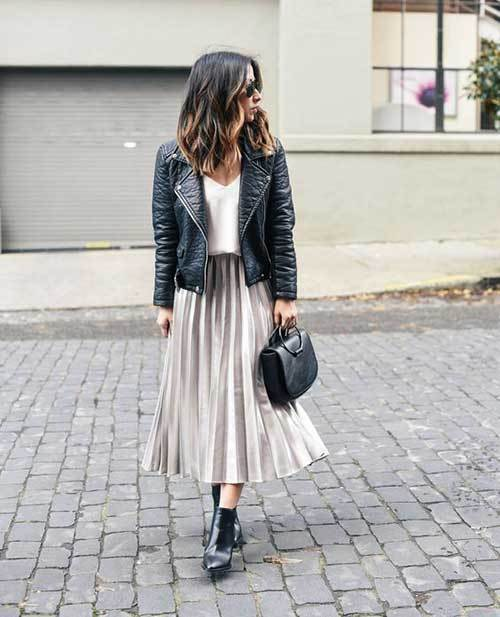 Trendy Midi Skirt Outfit Ideas