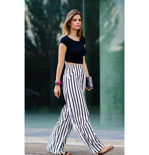 Trendy Wide Leg Summer Pants