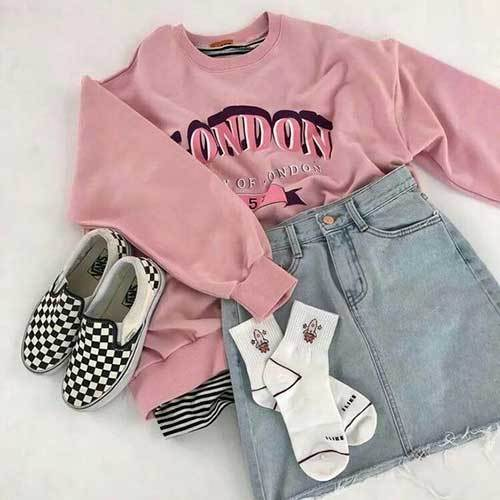Vintage Pink Outfits