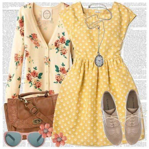 Vintage Polka Dot Outfits