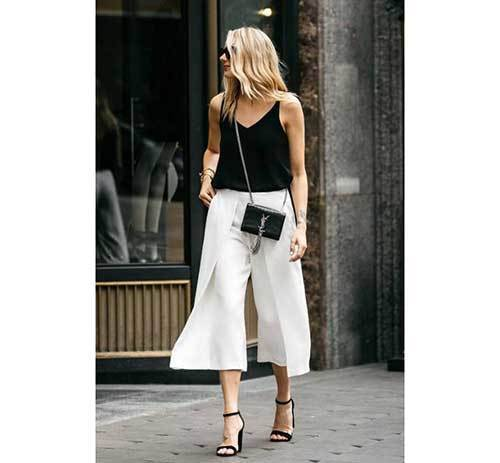 White Wide Leg Summer Pants