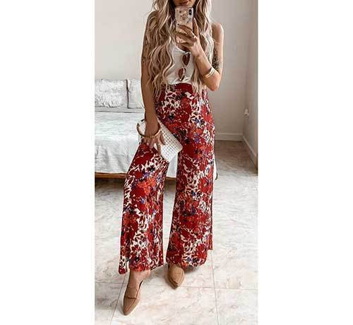 Night Wide Leg Summer Pants