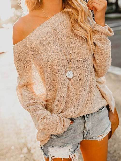 Off Shoulder Outfit Ideas-28