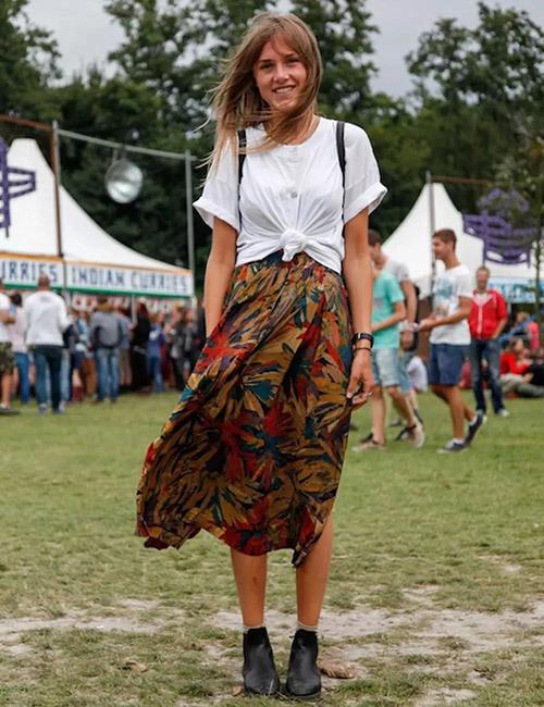 Bohemian Floral Outfit Ideas