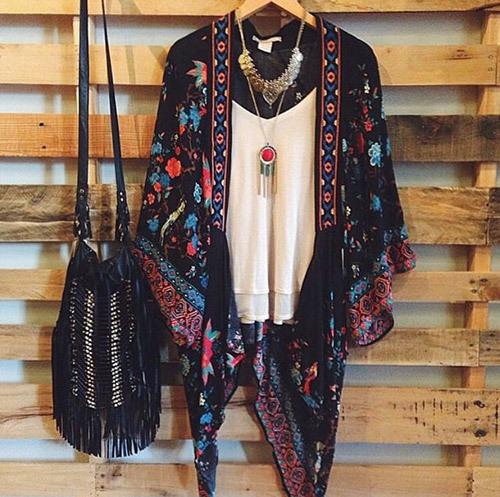 Bohemian Kimono Outfit Ideas