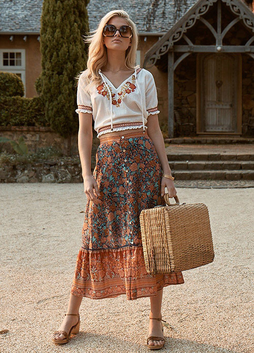 Bohemian Summer Outfit Ideas