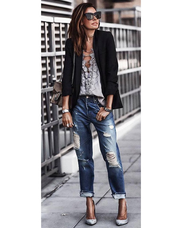 Boyfriend Jeans Fall Outfit Ideas