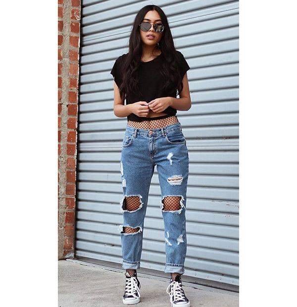 Boyfriend Jeans Outfit Ideas for School