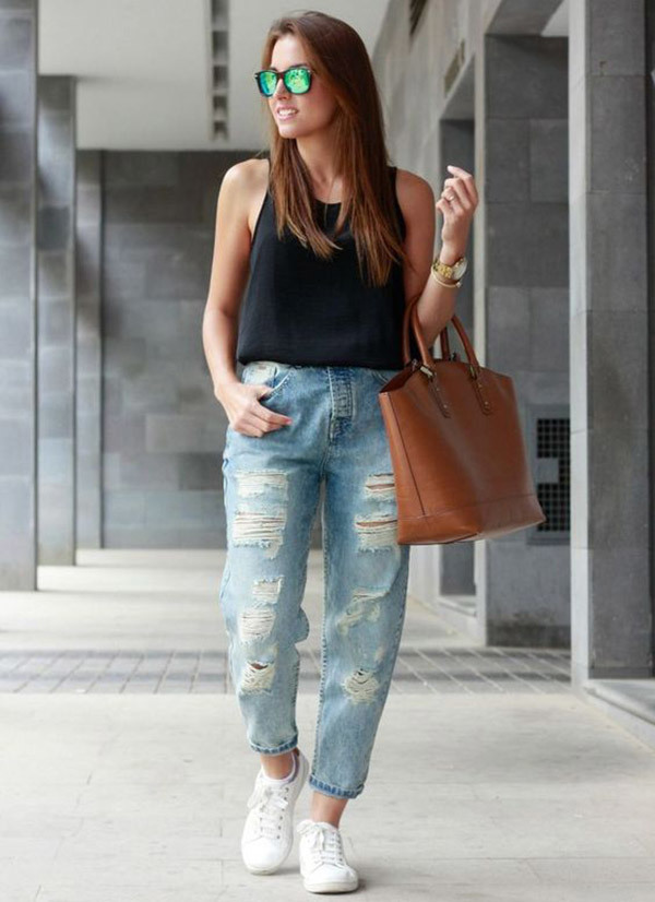 Boyfriend Jeans Summer Outfit Ideas