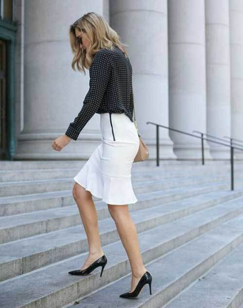 Business Skirt Outfit Ideas