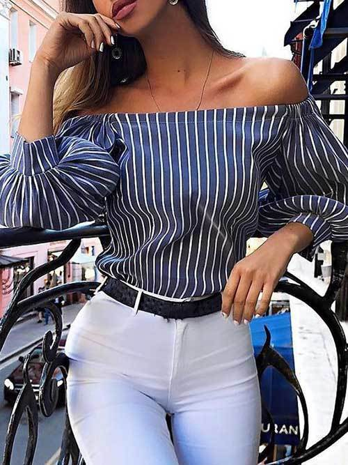 Chic Off Shoulder Outfit Ideas