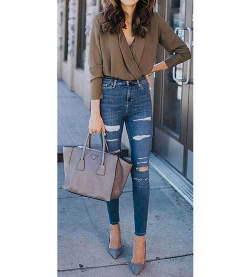 Classy High Waist Pants Outfit Ideas