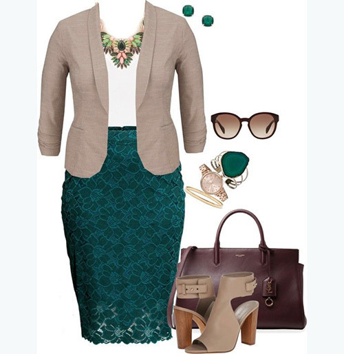 Cute Plus Size office Outfits