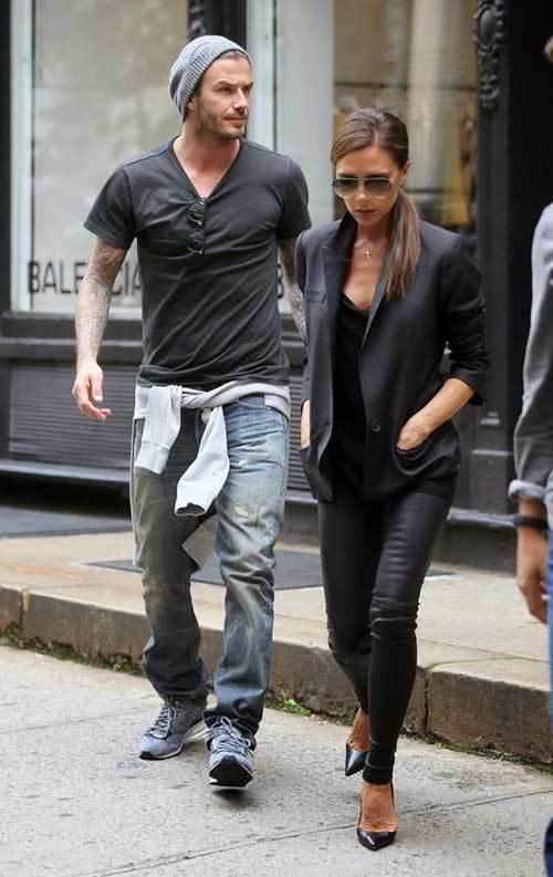 David Beckham Jean Outfits