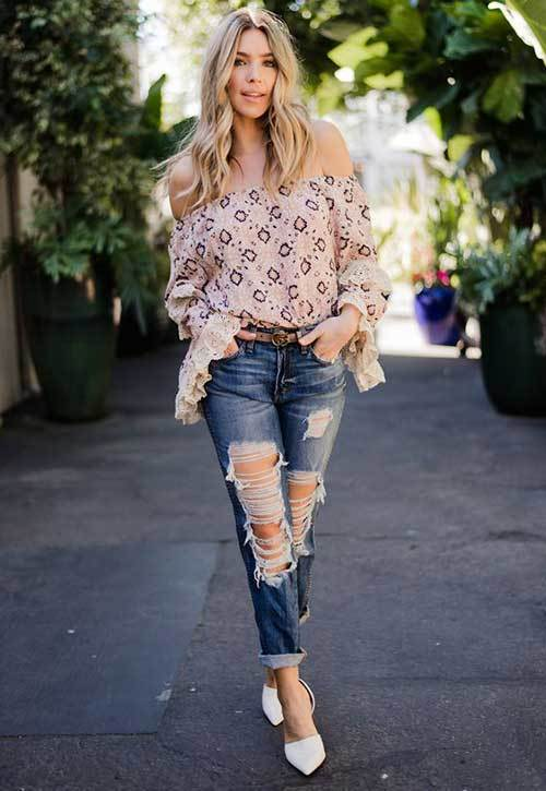 Fashionable Off Shoulder Outfit Ideas