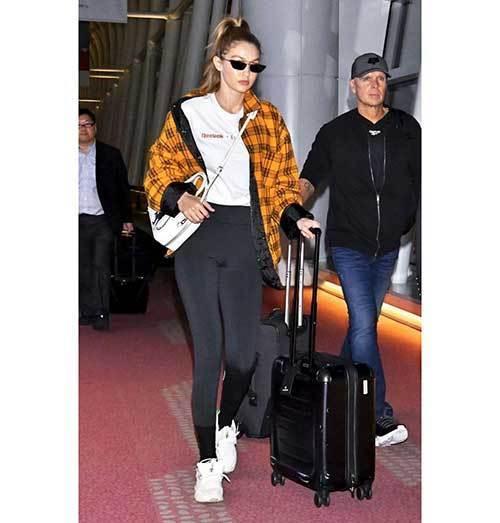 Gigi Hadid Travel Outfits