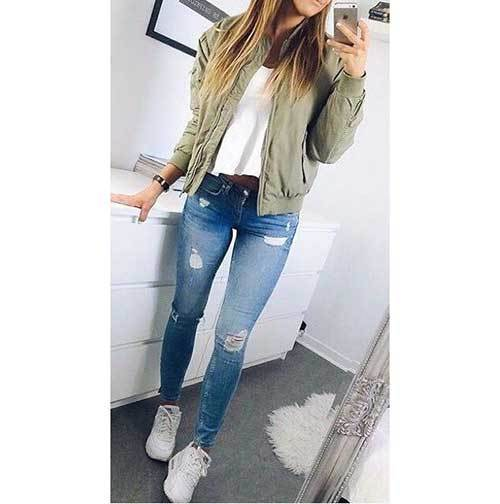 Bomber Jacket Teen Outfits