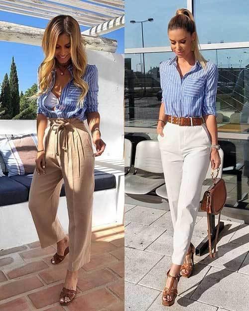 High Waist Pants Summer Outfit Ideas