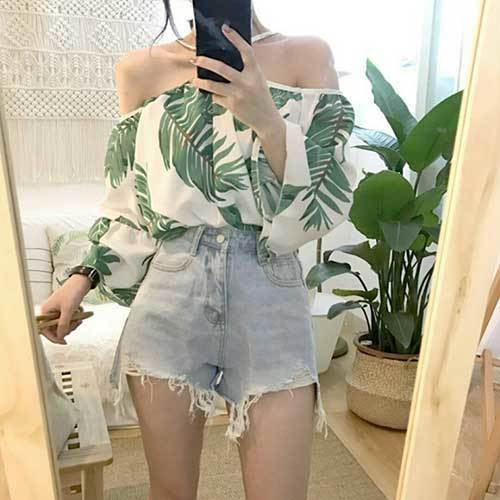 Korean Off Shoulder Outfit Ideas
