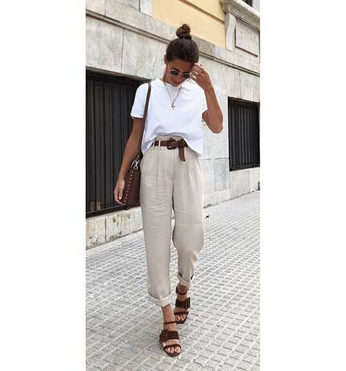 Loose High Waist Pants Outfit Ideas