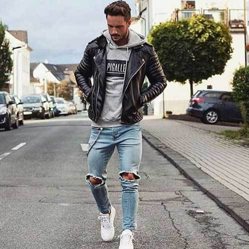 Black Jean Outfits for Men