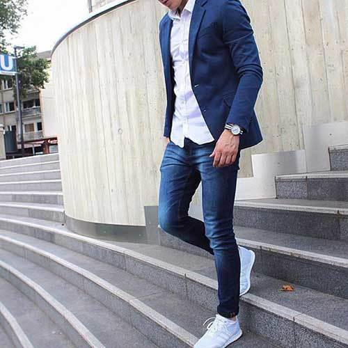 Blue Jean Outfits for Men