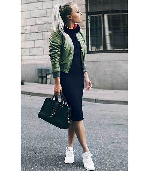Womans Green Bomber Jacket